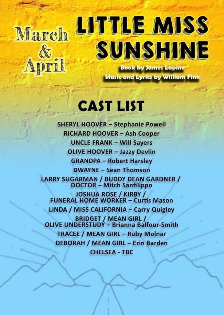 Little Miss Sunshine - Cast LIst